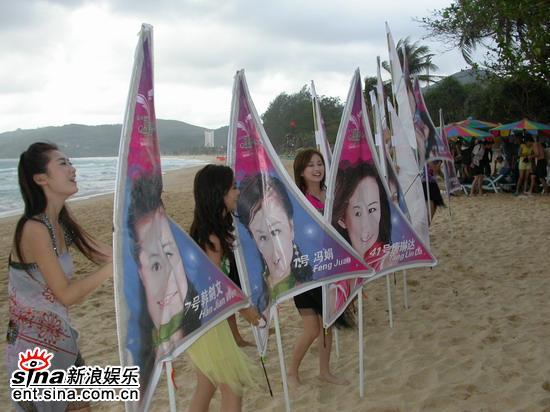 图文:准星姐赴泰国拍摄外景海滩上举起风帆