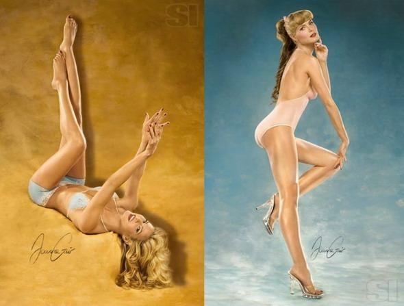 组图:名模海蒂-克鲁姆全裸登上美国体育画报