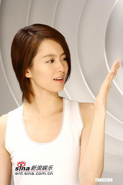 6月28日最美女星:梁咏琪拍护肤广告展细滑肌肤