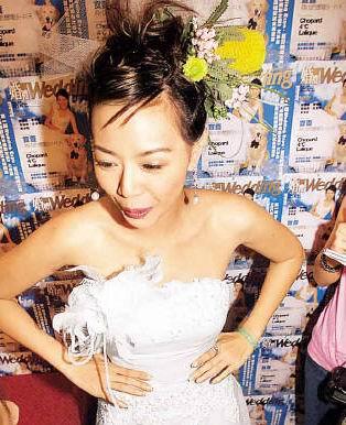 众美女穿婚纱亮相 钟丽淇迷人风姿独占花魁多图