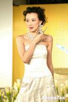 组图:萧蔷台湾走秀穿银白色小礼服裸露香肩