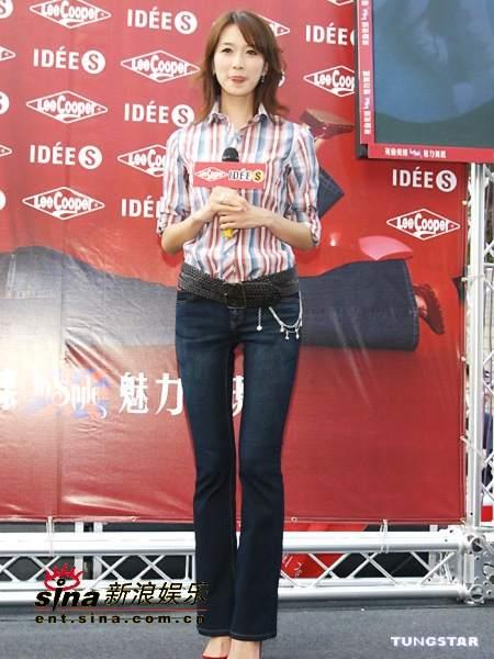 组图:林志玲为牛仔裤代言意外获得生日祝福