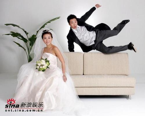 组图:谢天华与女友结婚原是拍摄婚纱广告