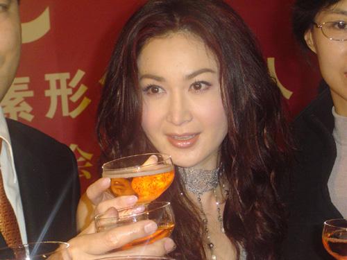 组图:温碧霞妩媚代言感叹在香港艺人太辛苦