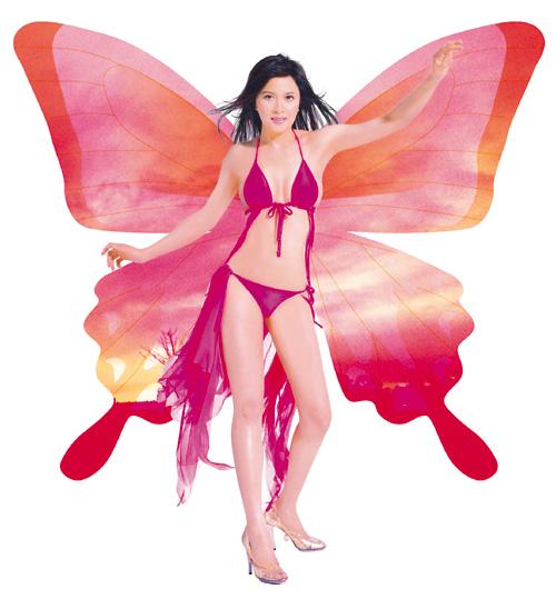 邵美琪任纤体形象代言人性感亮丽展示傲人身材