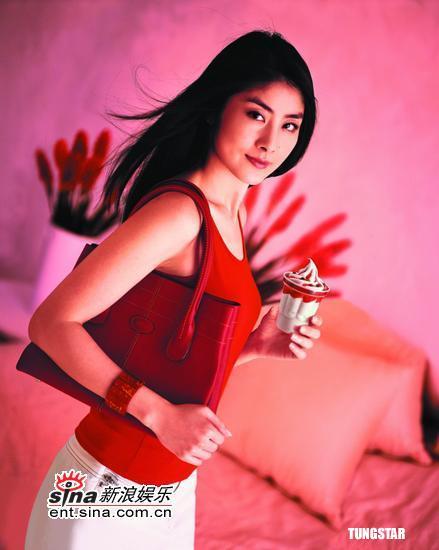 陈慧琳王力宏再度合作泰国拍摄新广告(组图)