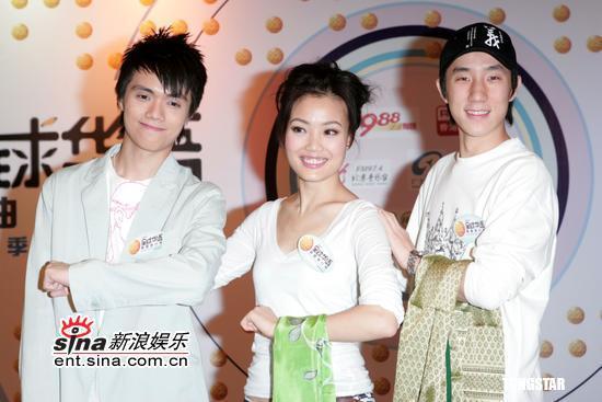 组图:容祖儿房祖名出席华语歌曲排行榜记者会