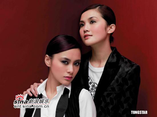 组图:Twins代言彩妆秘密抵达北京拍摄广告