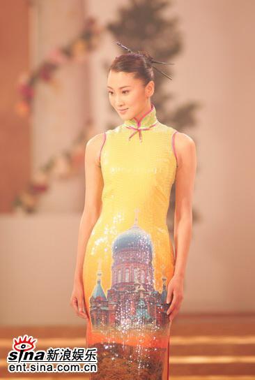 图文:亚姐总决赛直播--9号王磊旗袍展示