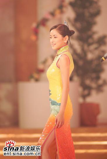 图文:亚姐总决赛直播--3号杨柳青旗袍展示