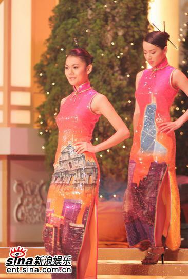 图文:05年亚洲小姐总决赛现场直播--旗袍佳丽