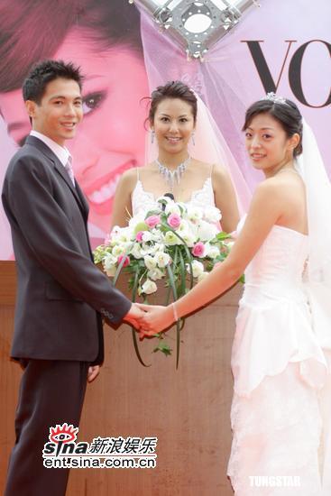 组图:10月13日时尚关键词--淡粉色婚纱