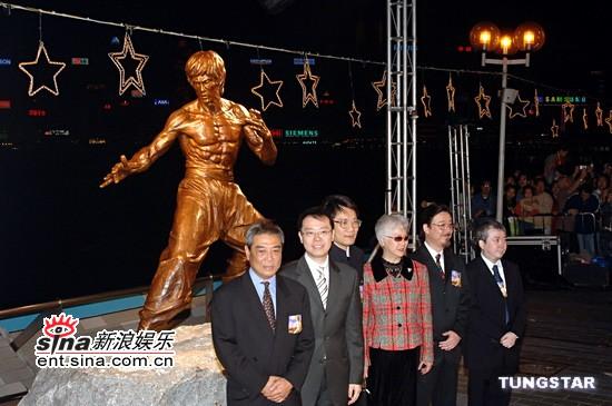 组图:李小龙铜像揭幕多演艺界明星出席仪式