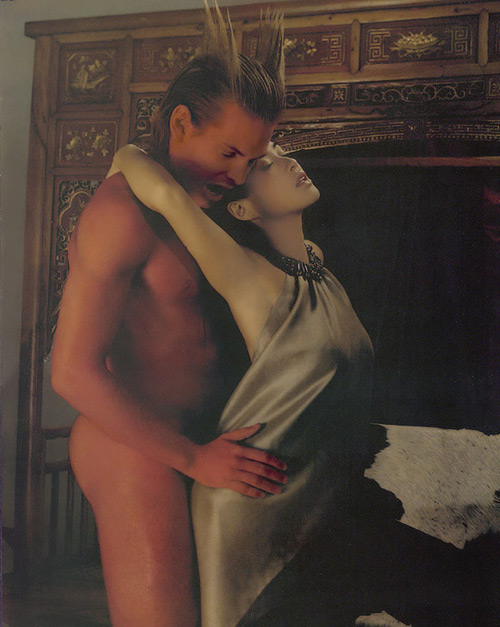组图:钟丽缇暧昧男性杂志照性感女神诠释诱惑