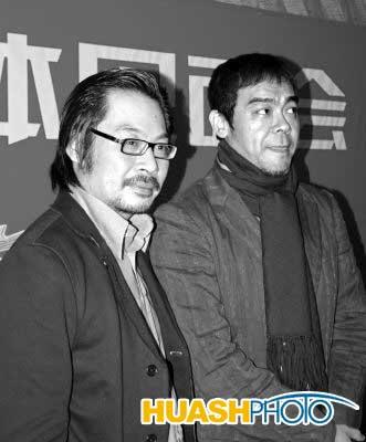 刘青云现身电影发布会42岁胡子都白了(组图)
