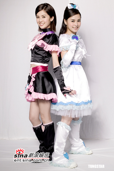 组图:Twins化身光之美少女代言日本人气动画