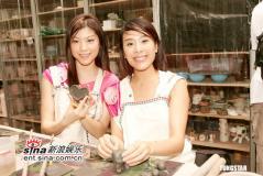 组图:16位香港小姐一起制作陶艺玩泥巴显可爱
