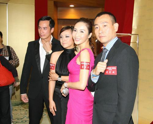 组图:TVB黎姿林保怡陈豪邓萃雯上海出席派对
