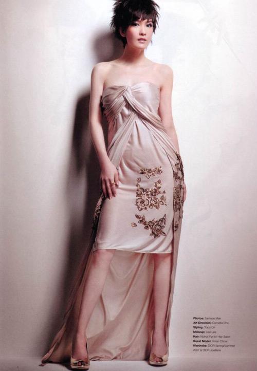 组图:周慧敏优雅写真新造型流露成熟女性气息