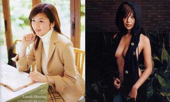 图文:日本女星出位一脱--白石美帆