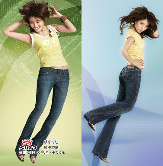 3月3日最美女星:BoA代言仔裤性感诠释动感张扬