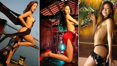 韩星MINA拍摄大胆半裸写真声援韩国男足(组图)