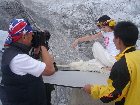 雪山瑜伽_雪山星空瑜伽裤必须美到cry准备好做冰雪女王