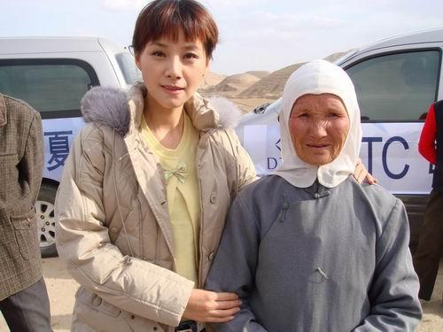 何琳为希望小学捐赠远赴宁夏参加母亲水窖活动