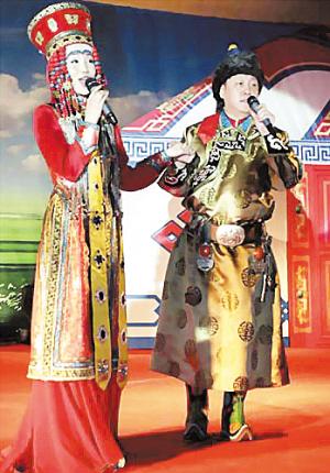 硬汉韩磊与蒙族女歌手结良缘打造传统婚礼(图)