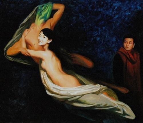 徐静蕾裸体油画风靡拥抱凶猛动物王朔旁观(图)