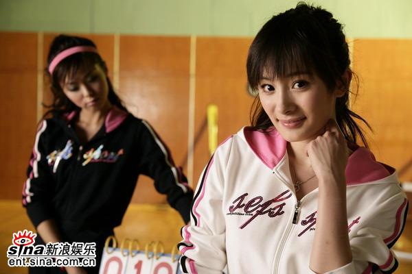 组图:杨幂美女啦啦队长写真