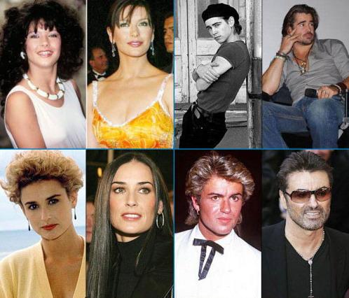 图文:好莱坞明星前后照片对比--黛米莫尔等