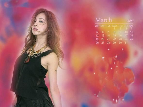 图文:蔡依林06彩妆年历--三月