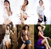 组图:韩星周恩拍热力写真酥胸半露大玩性感