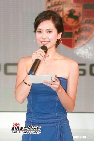 图文:郭羡妮出席车展--性感发言人