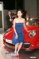 6月29日最美女星:郭羡妮性感低胸装出席车展