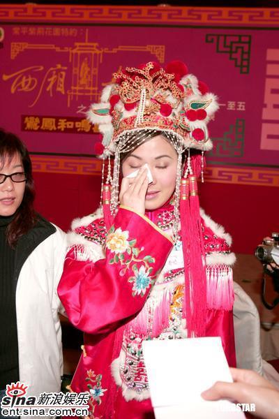 图文:《西厢奇缘》做宣传叶璇强忍眼泪装欢笑(6)
