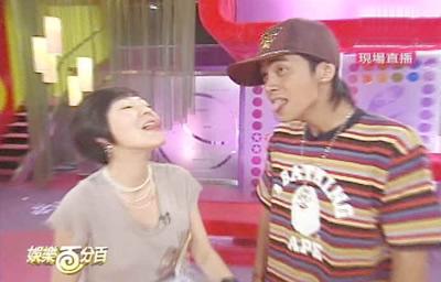 """组图:小S罗志祥搭档最后一期节目特别""""舌吻"""""""
