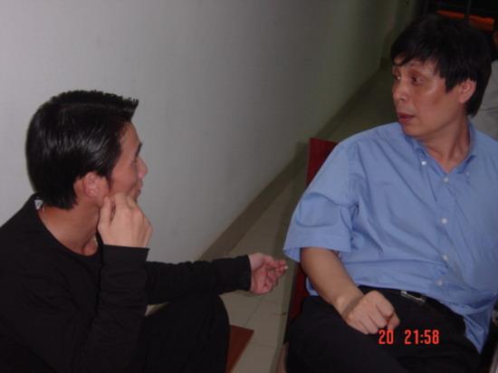 资料图片:《派克式左轮》总导演范小天在现场(4)