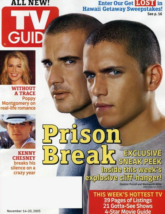 电视剧《越狱》两位男主角登上杂志封面(组图)