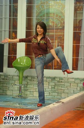 资料图片:《娜可不一样》节目现场--刘璇