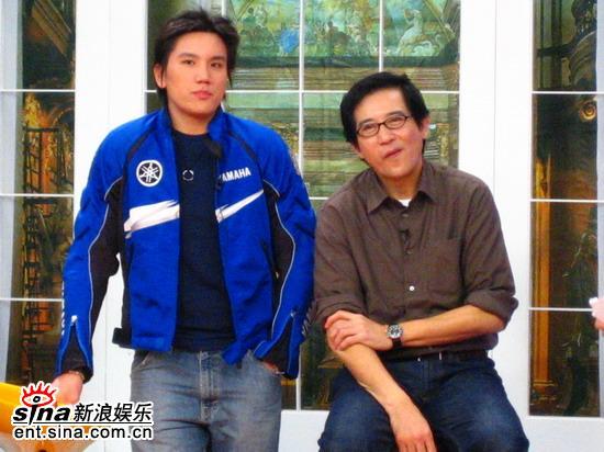 资料图片:《娜可》节目现场-秦汉与儿子孙国豪