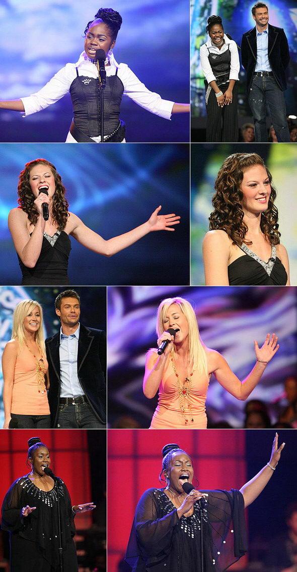 组图:《美国偶像》20强之10女表演选曲成瓶颈