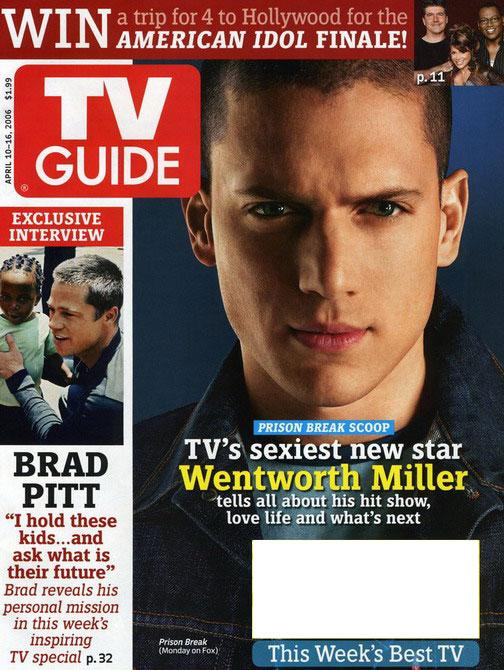 组图:《越狱》男主角登上TVGuide杂志封面