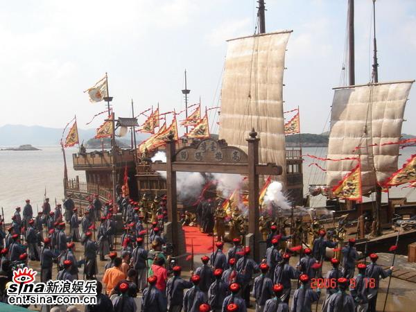 资料图片:电视剧《鹿鼎记》桃花岛剧照(1)