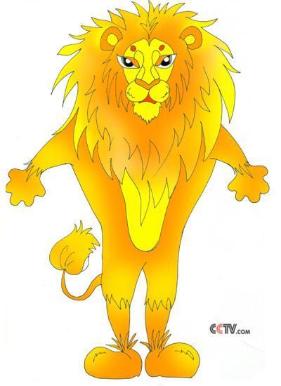 卡通造型图--狮子