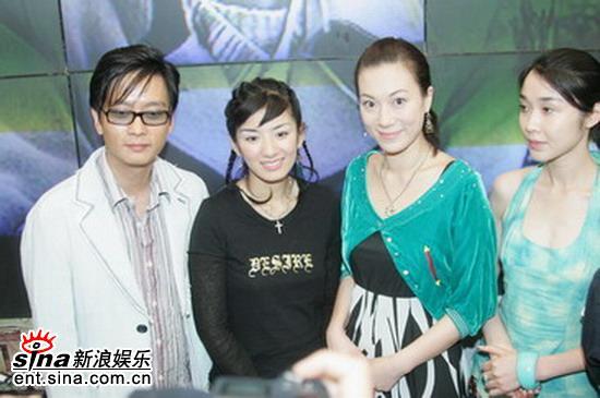 组图:黄奕张可颐亮相电视剧《长恨歌》展台