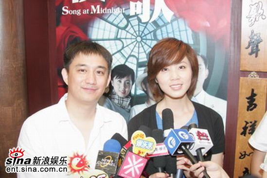 组图:黄磊孙莉胡歌与观众见面