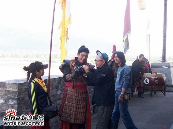 """《少年杨家将》热拍象山影视城""""点兵""""(组图)"""