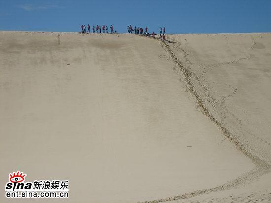 图文:青春之星农庄之旅--滑沙现场